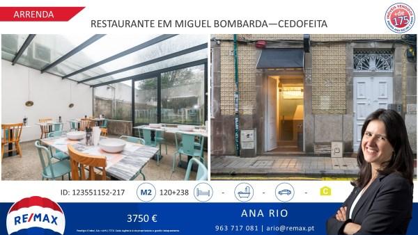 Arrenda Loja Restaurante em Miguel Bombarda