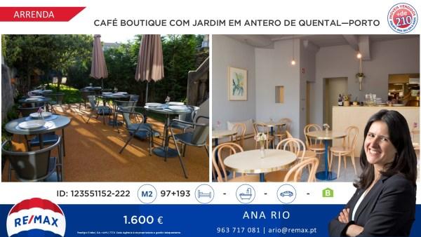 Novo Preço - Café Boutique com Jardim em Antero de Quental