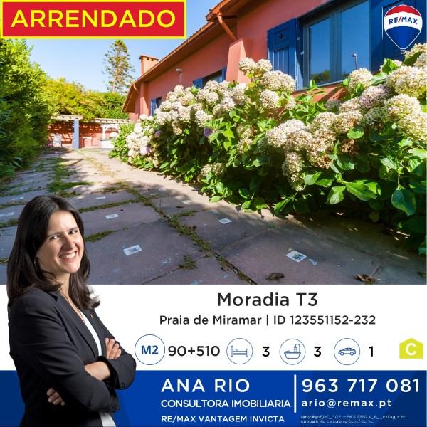 Arrendada Moradia em Miramar