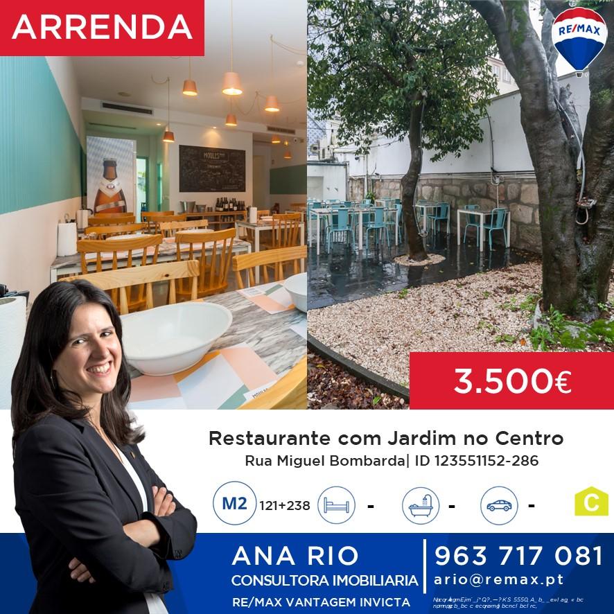 ID286 Arrenda - Restaurante com Jardim no Centro