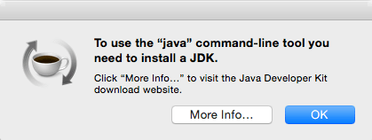 "To use the ""java"" command line tool you need to install a JDK."