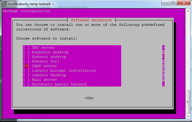 LAMP server - tasksel - ubuntu