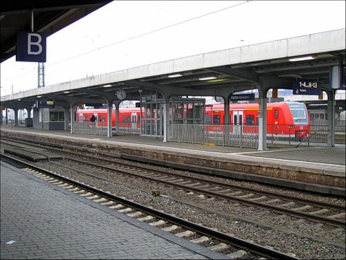 На железнодорожной платформе в Хамме