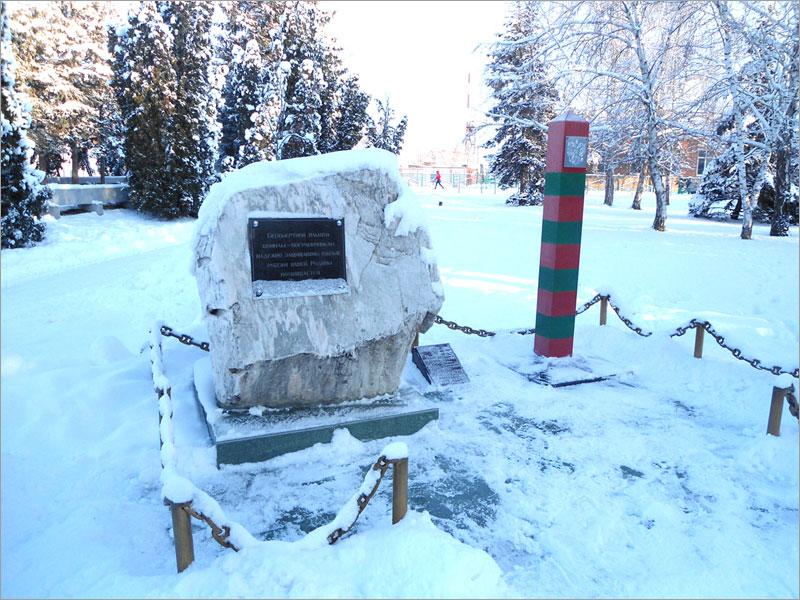 Кубань, Тимашевск, пограничный столб