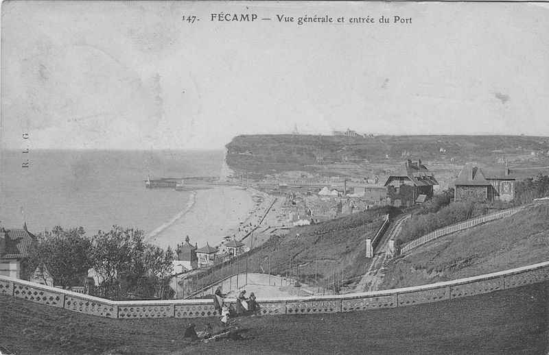 Панорама Фекана, фото 1914 года