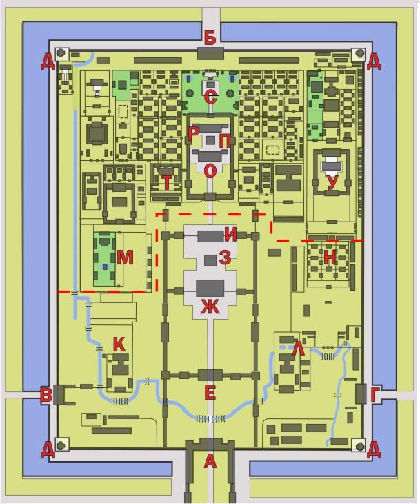 Схема строений Гугуна