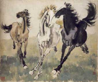 Сюй Бэйхун, лошади