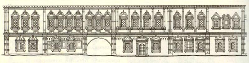 Реконструкция внешнего вида палат Голицына, южный фасад