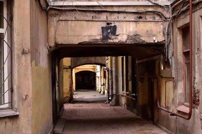 Анфилада арок на Зверинской улице
