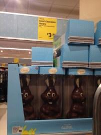 Até coelho de chocolate...