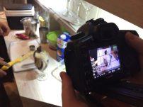 Filmando os drinks :)