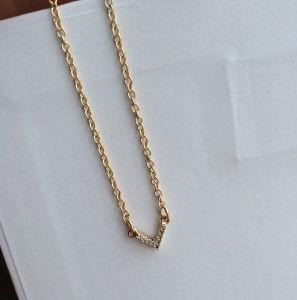Sophie Harper Pave V Necklace