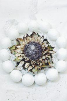 winter wreath with artichoke