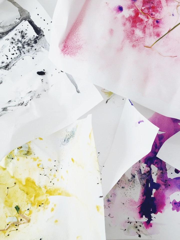 watercolor experiments via anastasiabenko.com