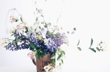 wild flower arrangement with lupine