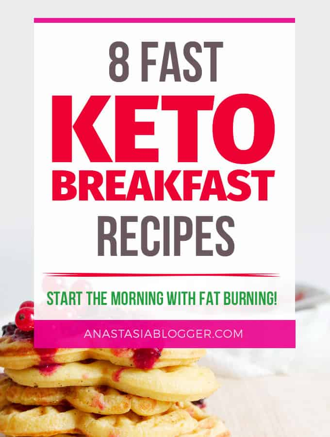 8 Easy Keto Breakfast to start burning fat. Keto Breakfast on the go, Keto breakfast make ahead recipes. Eggs cooked in creative ways are the basis of your breakfast on a Ketogenic diet. But it's not eggs only! You can have a no eggs Keto breakfast with muffins, Keto breakfast pancakes or Keto breakfast smoothie.
