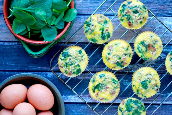 Bacon and Egg Muffins - 8 Easy Keto Breakfast to start burning fat. Keto Breakfast on the go, Keto breakfast make ahead recipes. Eggs cooked in creative ways are the basis of your breakfast on a Ketogenic diet. But it's not eggs only! You can have a no eggs Keto breakfast with muffins, Keto breakfast pancakes or Keto breakfast smoothie. #keto #ketogenic #ketodiet #breakfast #ketorecipes