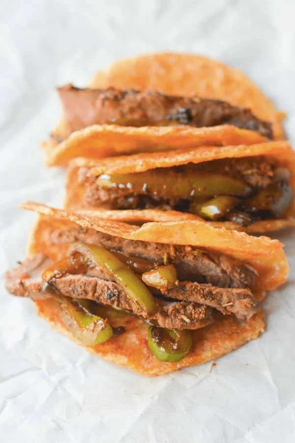 Steak Tacos - Here are hand-picked simple 12 DIY Keto Snacks On the Go for keeping you Ketogenic diet all the day and even while traveling. These low carb savoury fat bombs and treats will fill you up and help you lose weight. Take these home-made Keto snacks to work or a trip – they are easy to keep and heat up. #keto #ketogenic #ketorecipes #ketogenicdiet #ketodiet