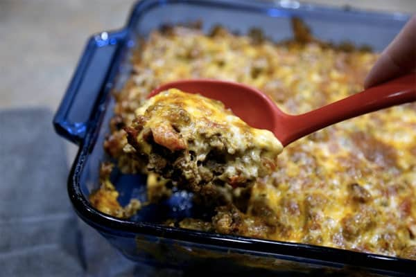 Keto Cheesy Taco Casserole Recipe. 7 Best Keto Tacos – Fat Burning Tacos Shells and Tortillas - enjoy your Ketogenic Diet with these delicious and fast recipes! Keto tacos shells, Keto tacos salad, Keto tacos bake and other Keto tacos low carb recipes to try today!
