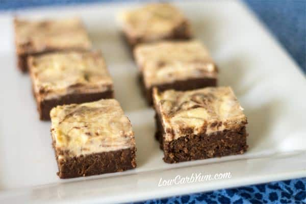 Gluten-Free Cheesecake Brownies - Check Top-10 low carb cheesecake recipes including easy low carb cheesecake no bake and keto options. No sugar low carb cheesecakes diabetic friendly. Low carb cheesecake bites for people on the Ketogenic diet.