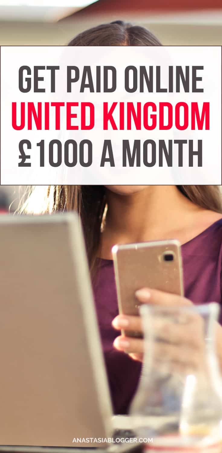 Do you want to make money online working at home in the United Kingdom? Earn extra £1000 per month or more - best make money on the side ideas. Check fast ways to make money online in the UK while working from home! #makemoneyonline #workfromhome