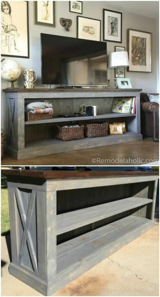 Farmhouse Console Table - DIY farmhouse decor ideas are very trendy these days if you watch some home renovation TV shows you probably know that it's in high demand now. Check this farmhouse decor on a budget for the living room, bedroom, country kitchen, bathroom and other parts of your rustic home.