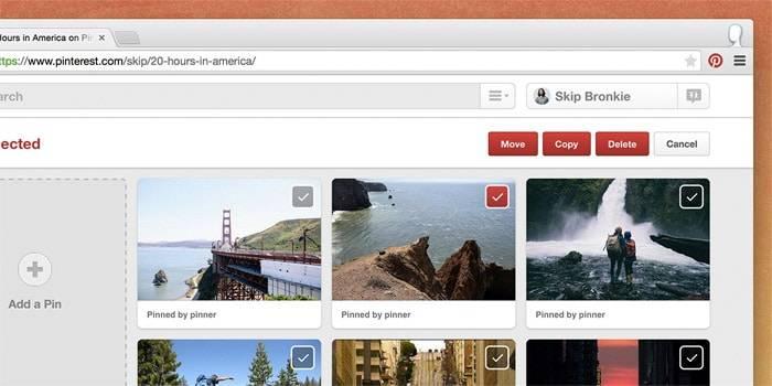 Pinterest changes Interface
