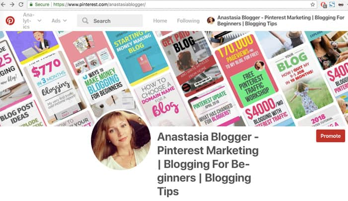 Pinterest changes profile cover