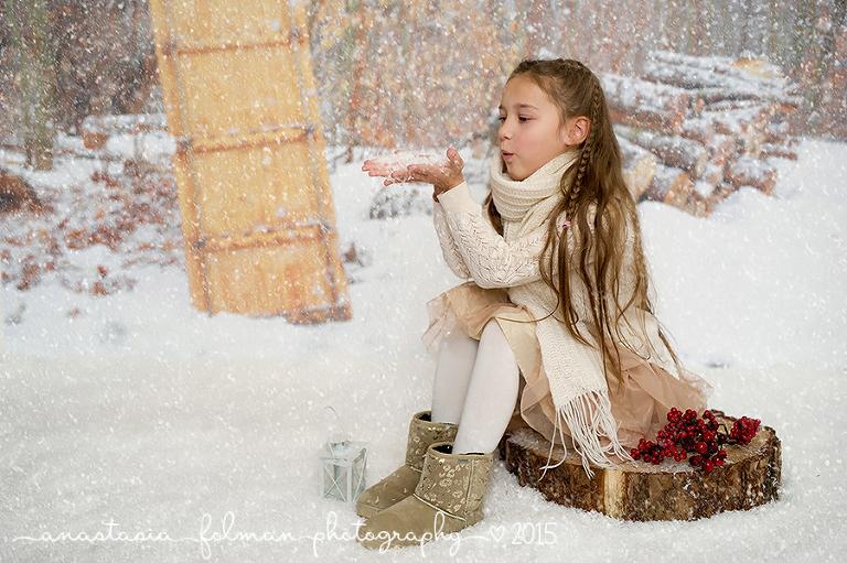 Wintershooting im Atelier 66  Kinderfotograf in Detmold