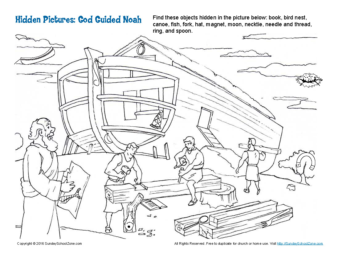 God Guided Noah Hidden Pictures Page 1 Anastasia Kids