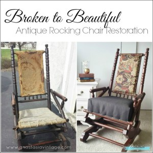 Antique Rocking Chair Restoration {Contributor Post on Kenarry}