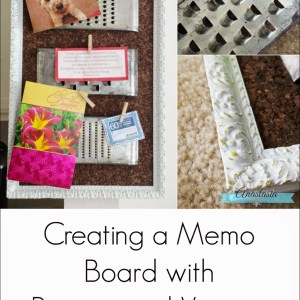 Creating a Memo Board with Repurposed Vintage Graters