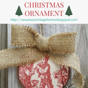 DIY Toile Christmas Ornament