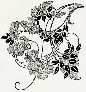 free ornate vintage blossom printable