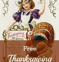 Antique Thanksgiving Postcard Printable