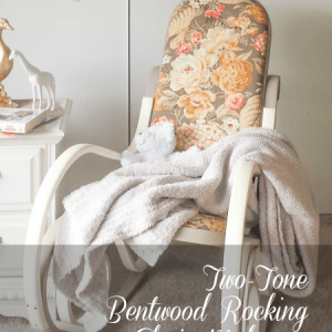 Two-Tone Bentwood Rocking Chair Makeover #fabflippincontest