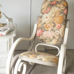 Bent Wood Rocking Chair Henriksdal Cover Two Tone Bentwood Makeover Fabflippincontest Baby Vintage Nursery Child S Bedroom