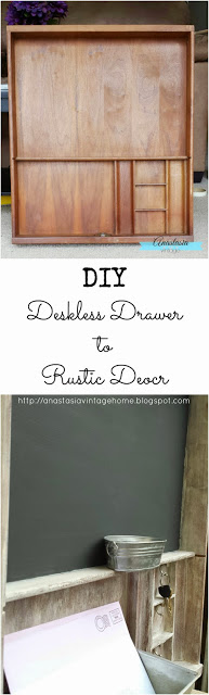Desk-less Drawer to Rustic Decor