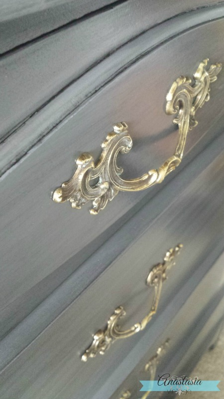 Frendh Provincial dresser hardware antique vintage bronze