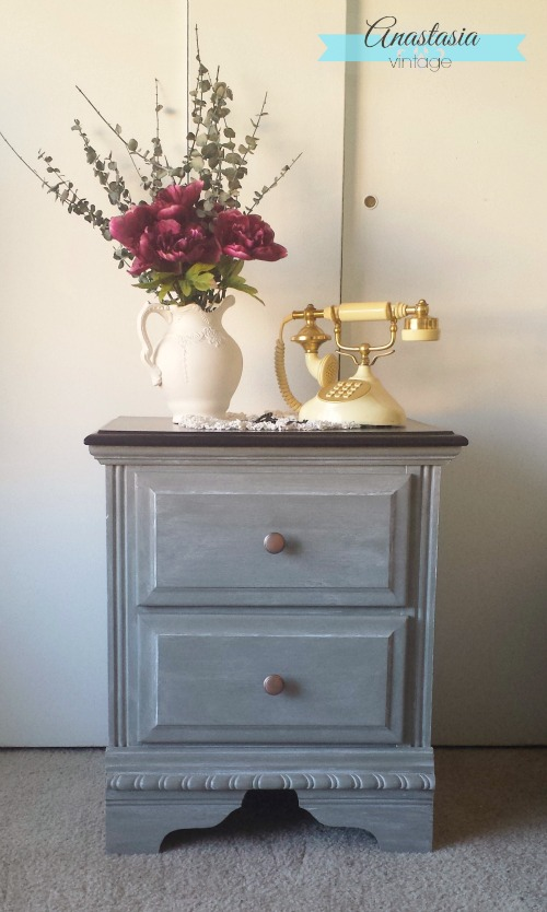 empire grey nightstand general finishes chalk style paint