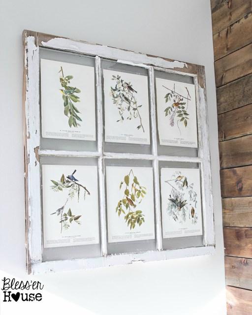 Vintage Artwork Window Display