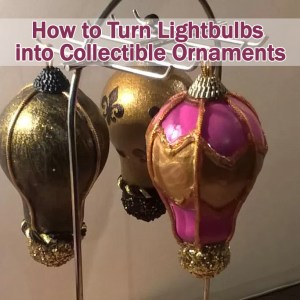 Turn lightbulbs into collectible ornaments