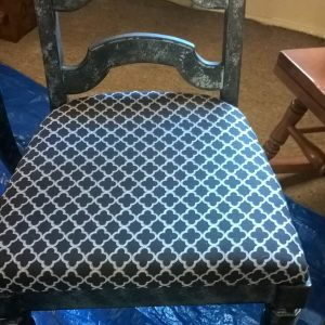 Inexpensive Dining Room Chair Upcycle with Situational Flair – Part Two