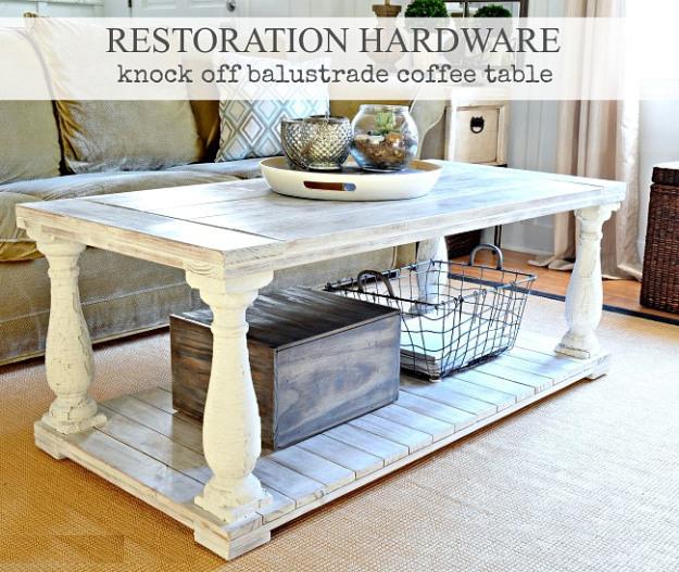 Restoration Hardware Knock Off Balustrade Coffee Table