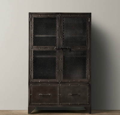 Restoration Hardware Industrial Cabinet