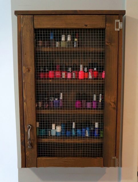 DIY Wall Jewelry Cabinet