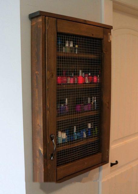 DIY Wall Jewelry Cabinet