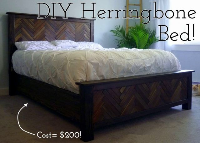 diy-herringbone-bed-headboard-footboard
