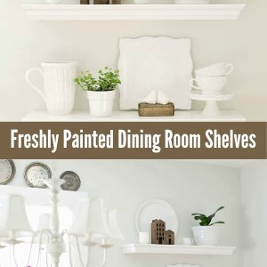 Painted Dining Room Shelves