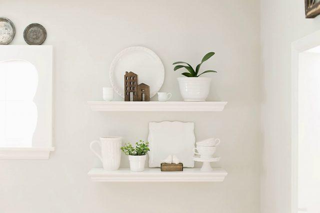 White Dining Room Shelves